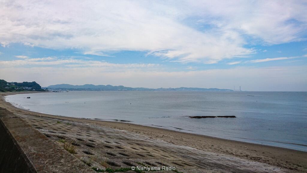 金田湾の海岸線
