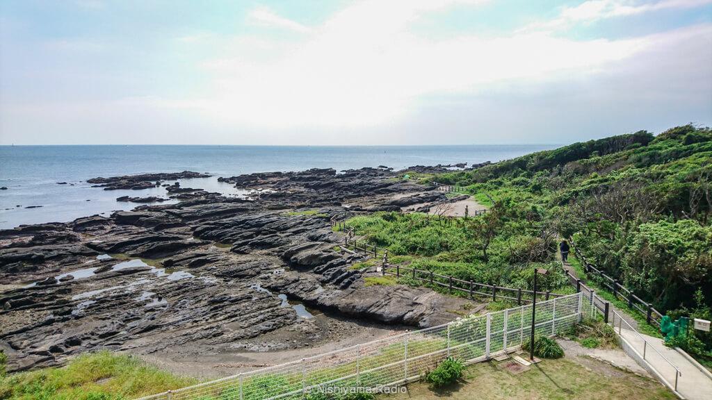 天神島の岩礁