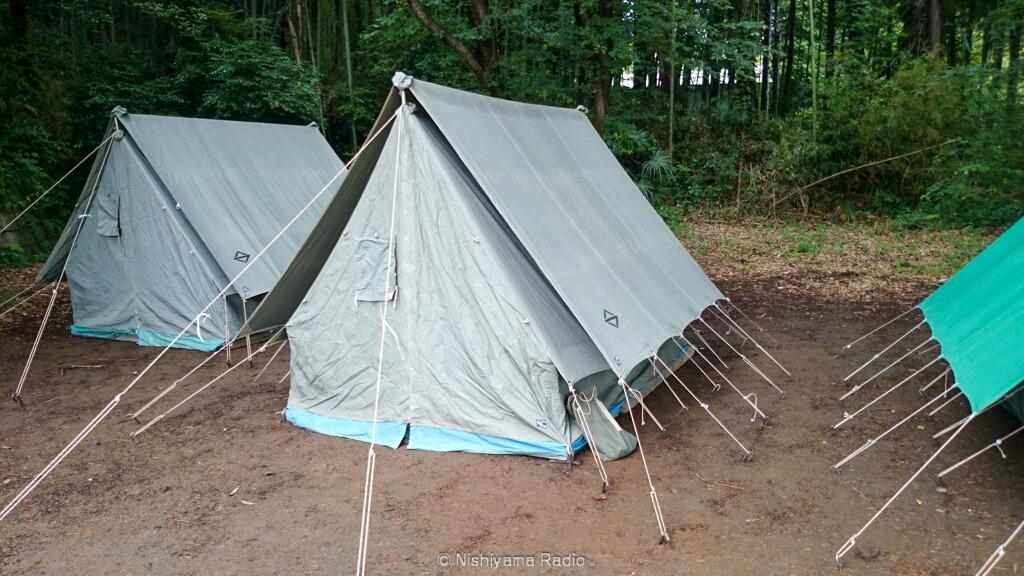 ノスタルジックな三角テント